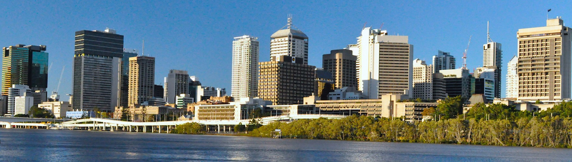 View of Brisbane City from the river
